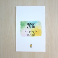 It's Going to be Wild 2016 Calendar (Assorted Animals)