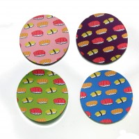 Sushi and Drinks (Set of 4 Coasters)