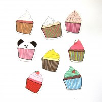 Cupcake Stickers (Pack of 8)