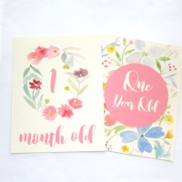 Floral Milestone Cards (By Month)