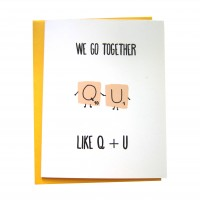 Q and U (Greeting Card)