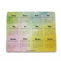 Calendar Mouse Pad (Watercolour Background)