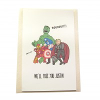 Avengers, Farewell! (Greeting Card)